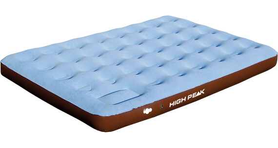 High Peak Comfort Plus Extra Long Campingbed Double bruin/blauw